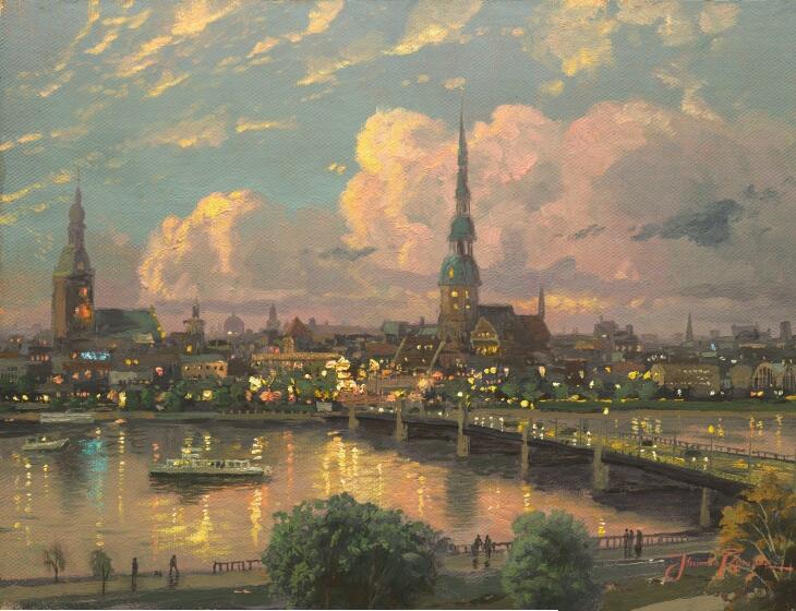 Sunset Over Riga, Latvia