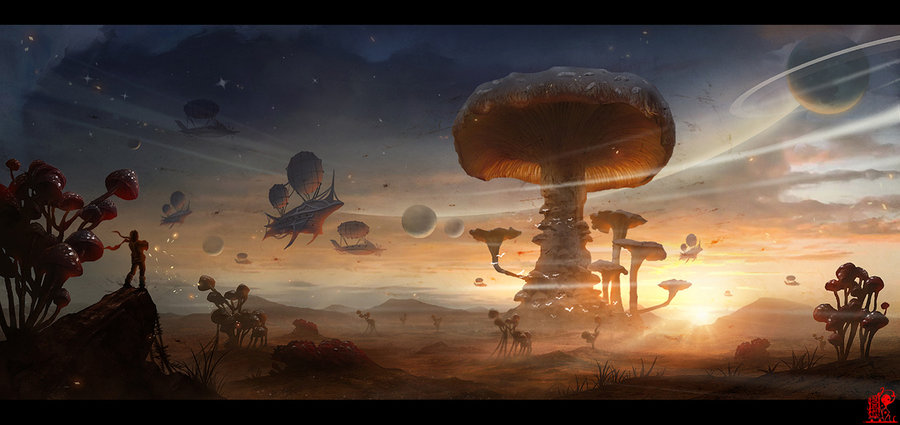 fungus_planet_by_zhaoenzhe-d55mkfv