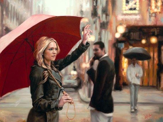Daniel Del Orfano и его красные зонтики