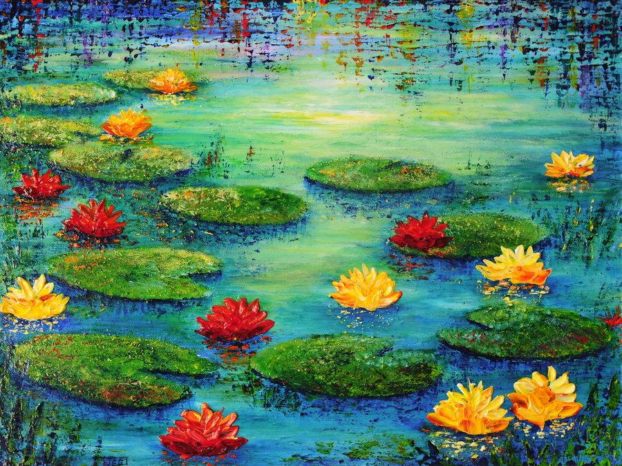 lily_pond_by_artbyteresa-d5mdkvg