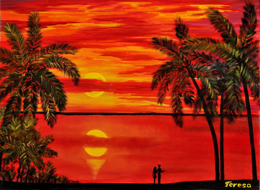 maui_sunset_by_artbyteresa-d59lozk