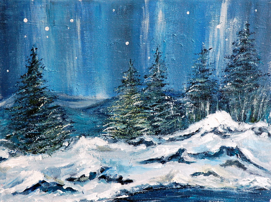 winter_night_by_artbyteresa-d3jm0o2
