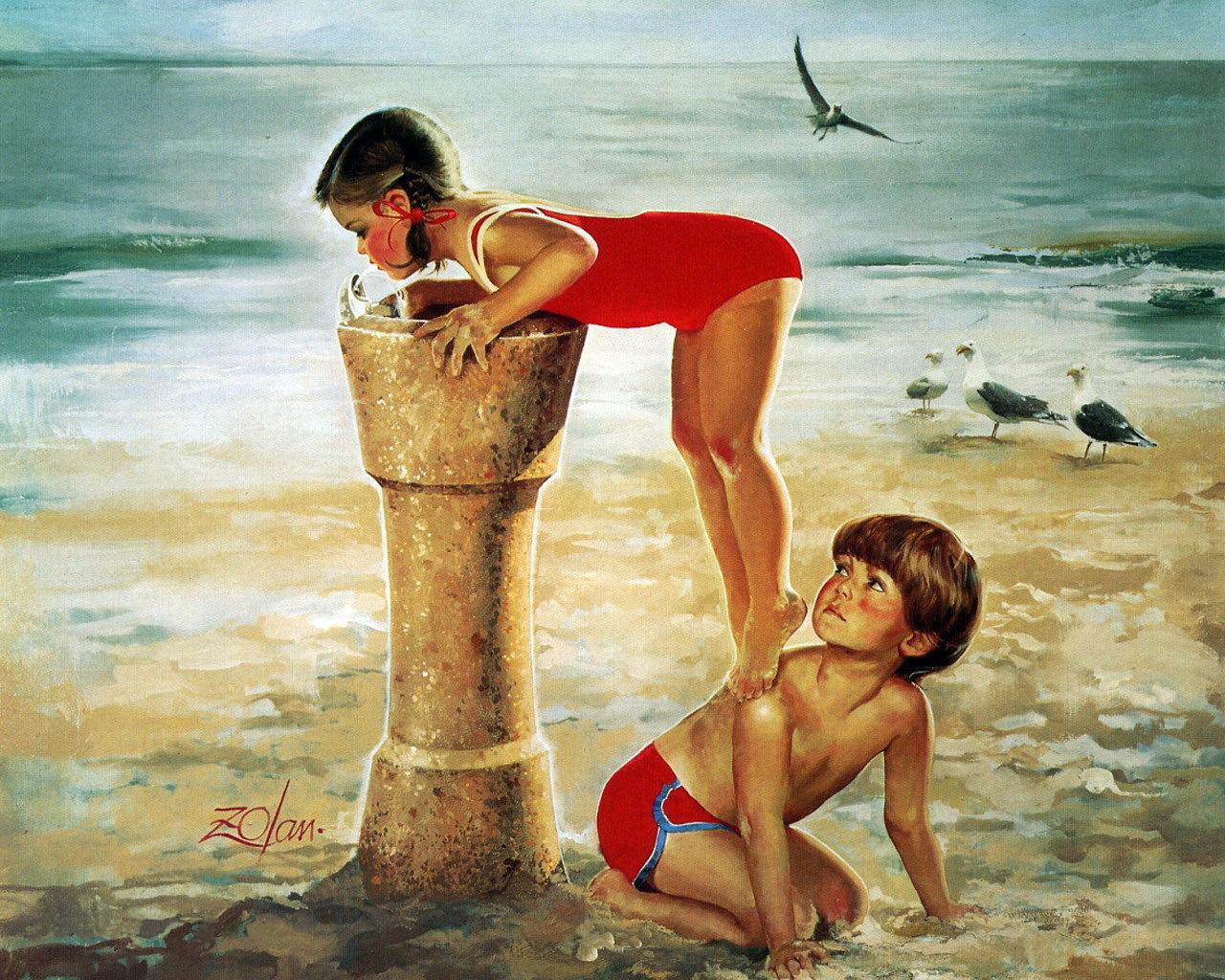Дети на картинах Дональда Золана