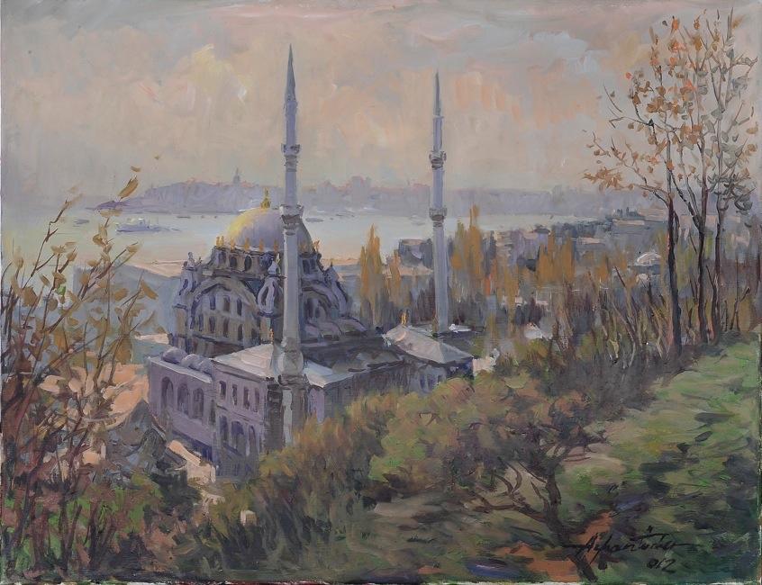 14_Ayhan_Turker_-_Nusretiye_Camisi_50x65cm_tuval_uz_yagli_boya_2012