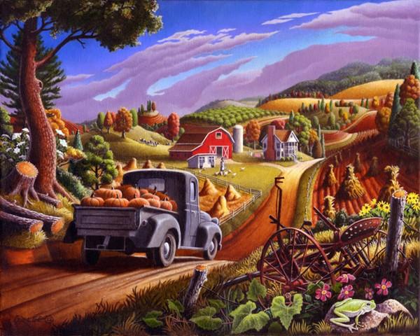 Красочный мир на картинах Walt Curlee