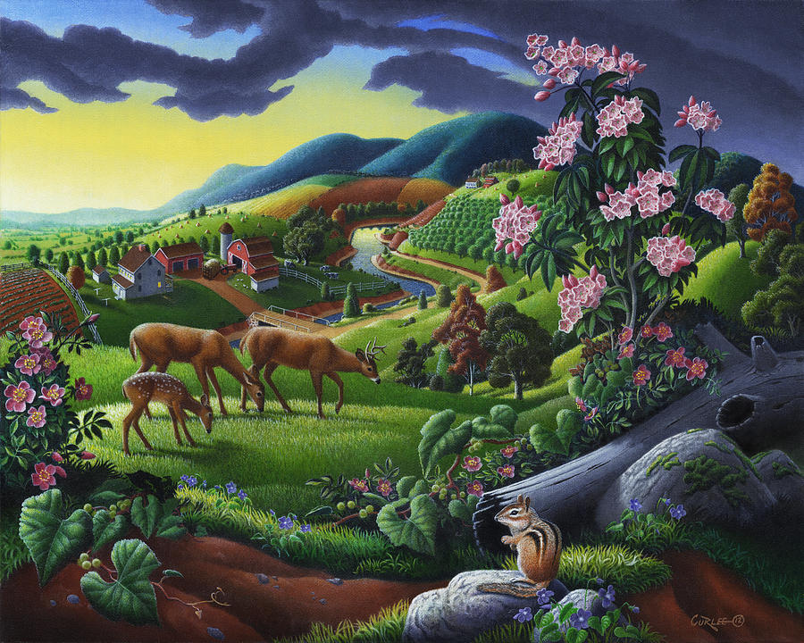 deer-country-farm-landscape-folk-art-timeless-americana-oil-painting-walt-curlee1