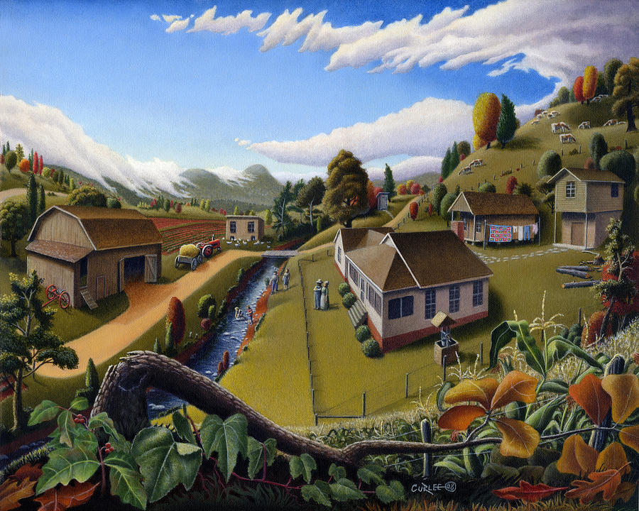 farm-folk-art-landscape-scene-american-rural-country-life-farms-americana-appalachian-fairy-tale-walt-curlee
