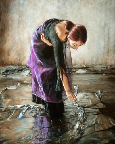 schilderij_spiegeling_vrouw