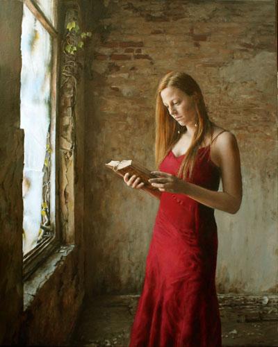 schilderij_vrouw_boek
