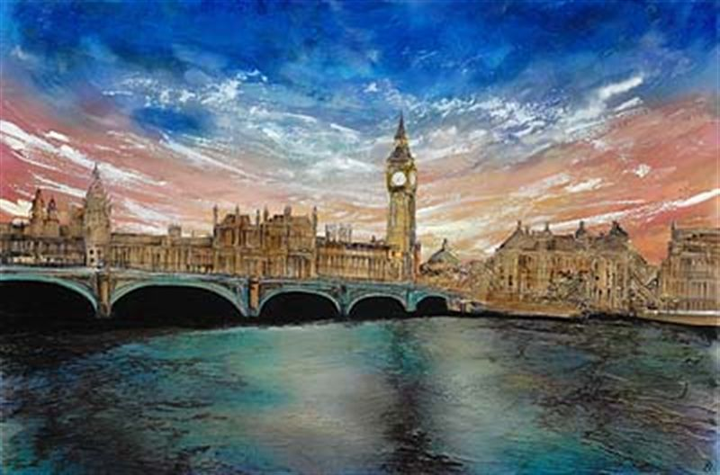 Лондон на картинах Robin Eckardt