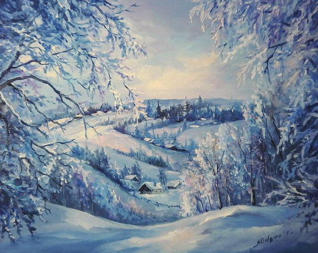 zima v derevne