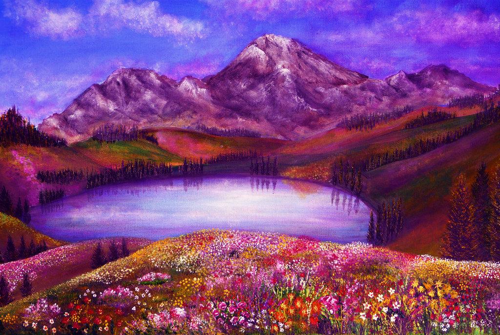 красочные картинки пейзажи это