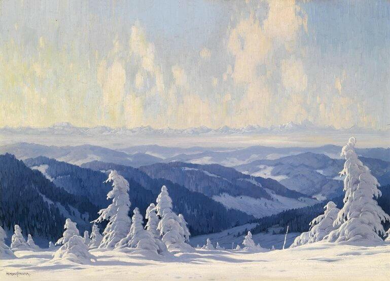 Альпийские пейзажи на картинах Карла Гауптмана