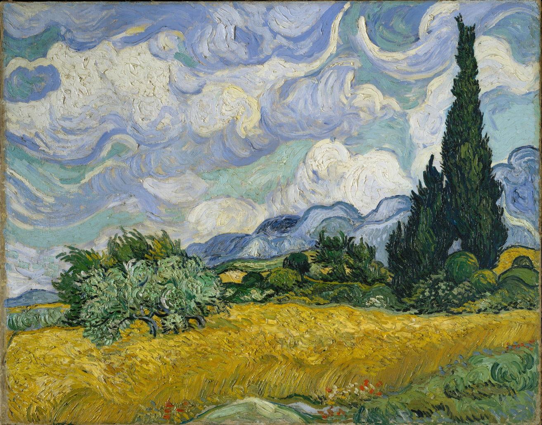 Винсент Ван Гог и его Пшеничное поле с кипарисами