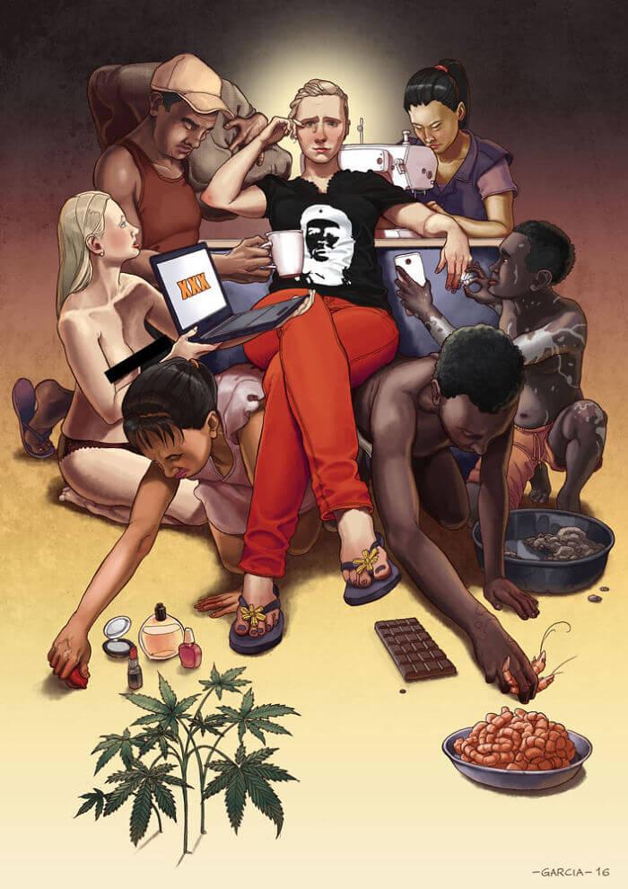36 иллюстраций и артов о проблемах современного общества