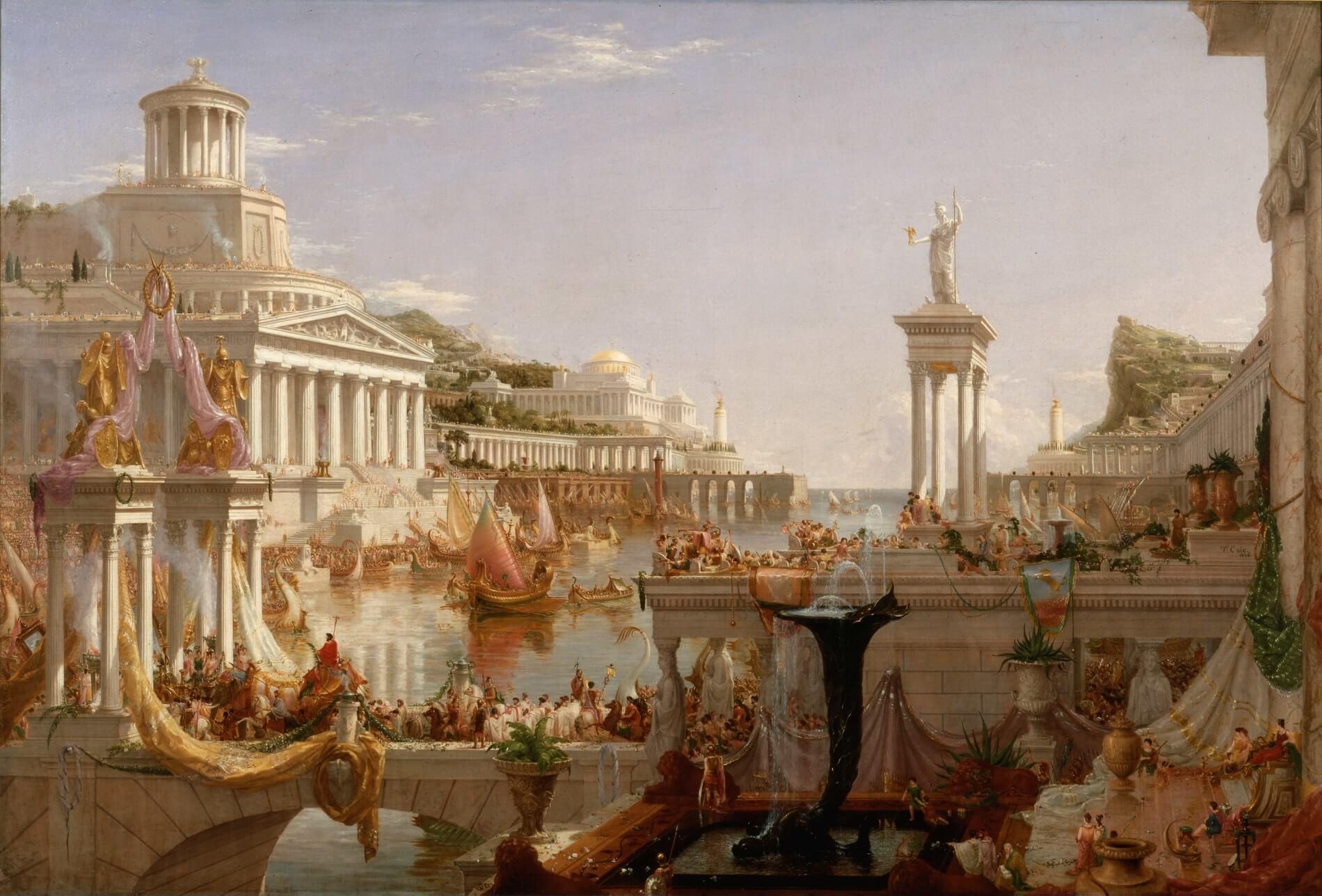 Серия картин Томаса Коула «Путь Империи»
