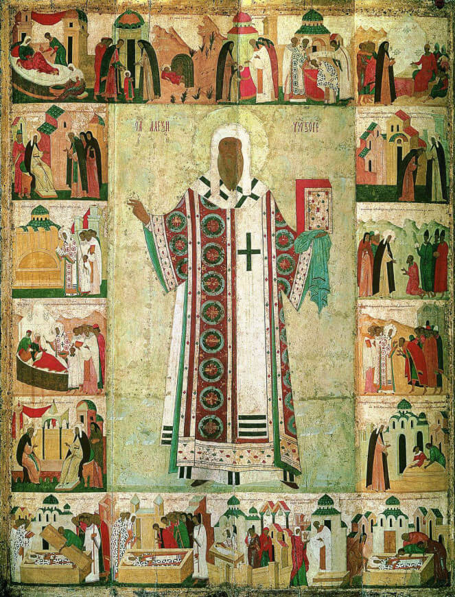 Дионисий - Митрополит Алексий с житием