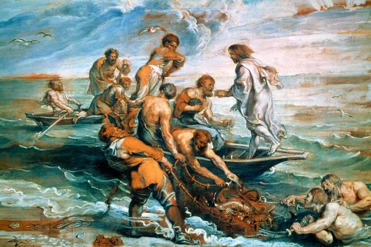 Рафаэль Санти - Чудесный улов рыбы