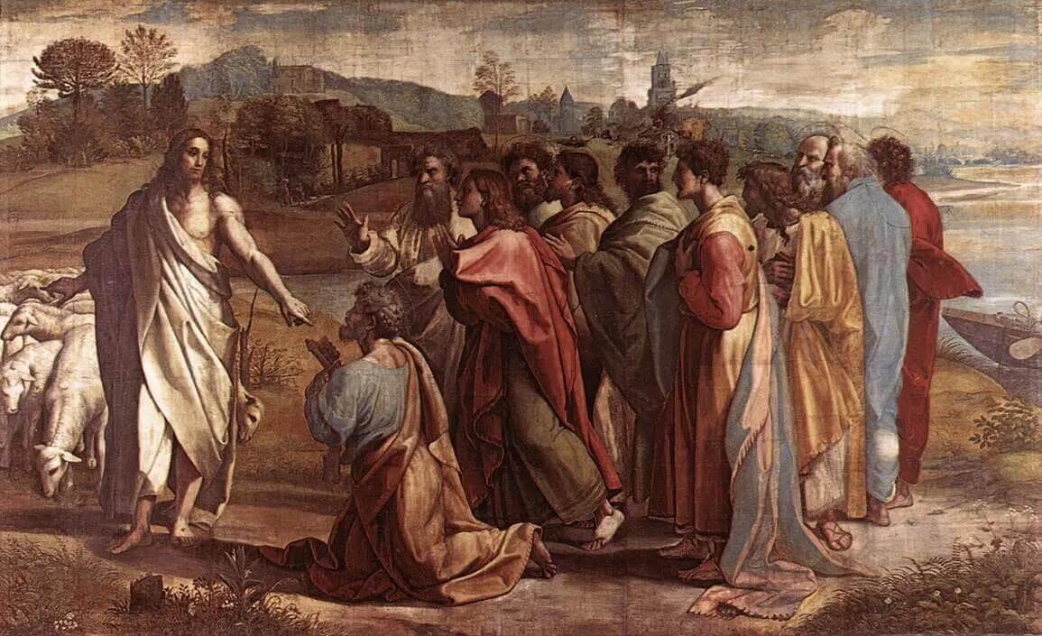 Рафаэль Санти - Христос вручает Св. Петру ключи от рая