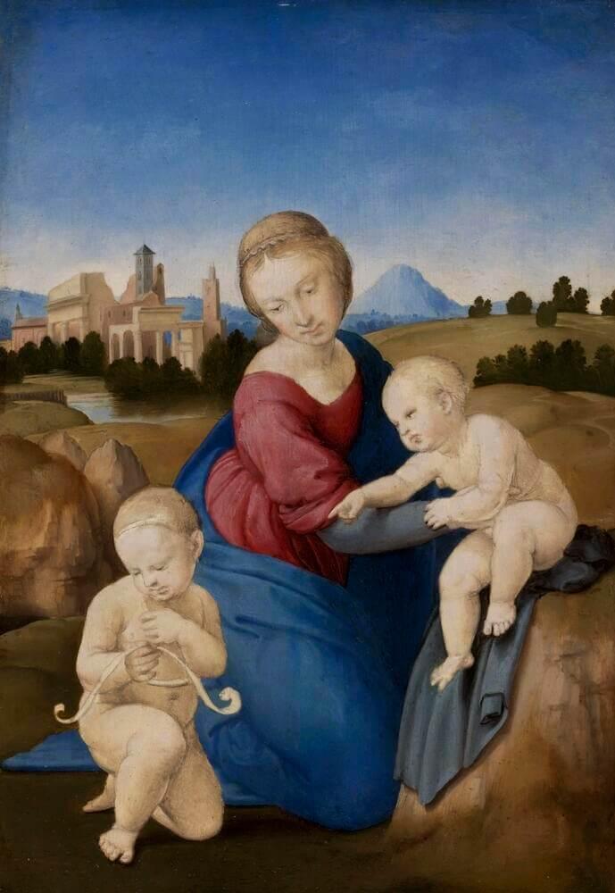 Рафаэль Санти - Мадонна с Младенцем и Иоанном Крестителем (Мадонна Эстерхази)