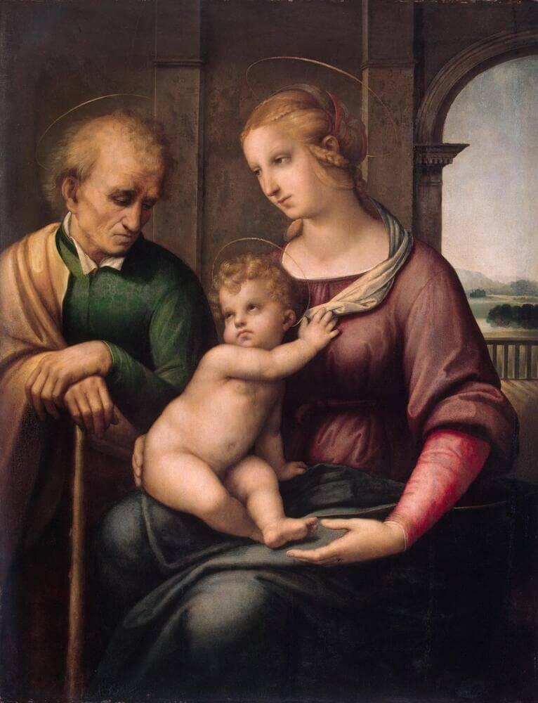 Рафаэль Санти - Святое семейство (Мадонна с безбородым Иосифом)