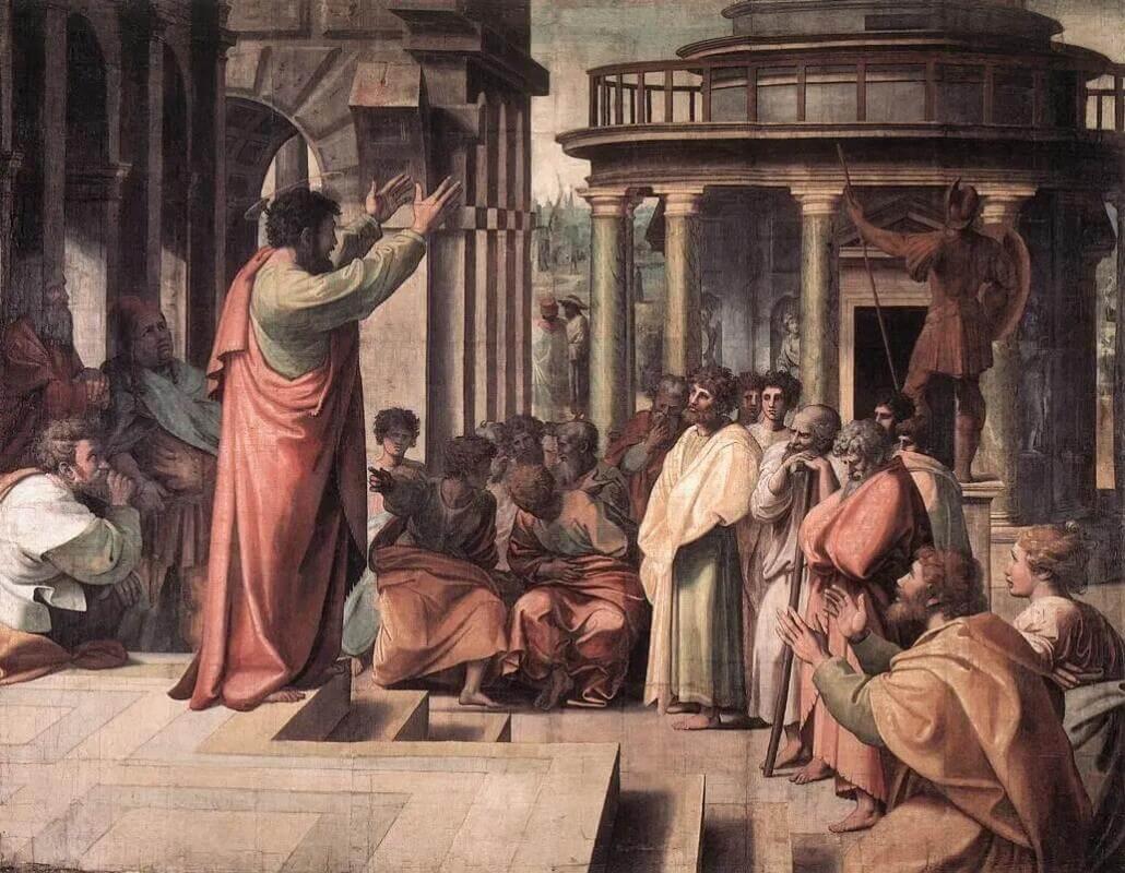 Рафаэль Санти - Святой Павел проповедует в Афинах