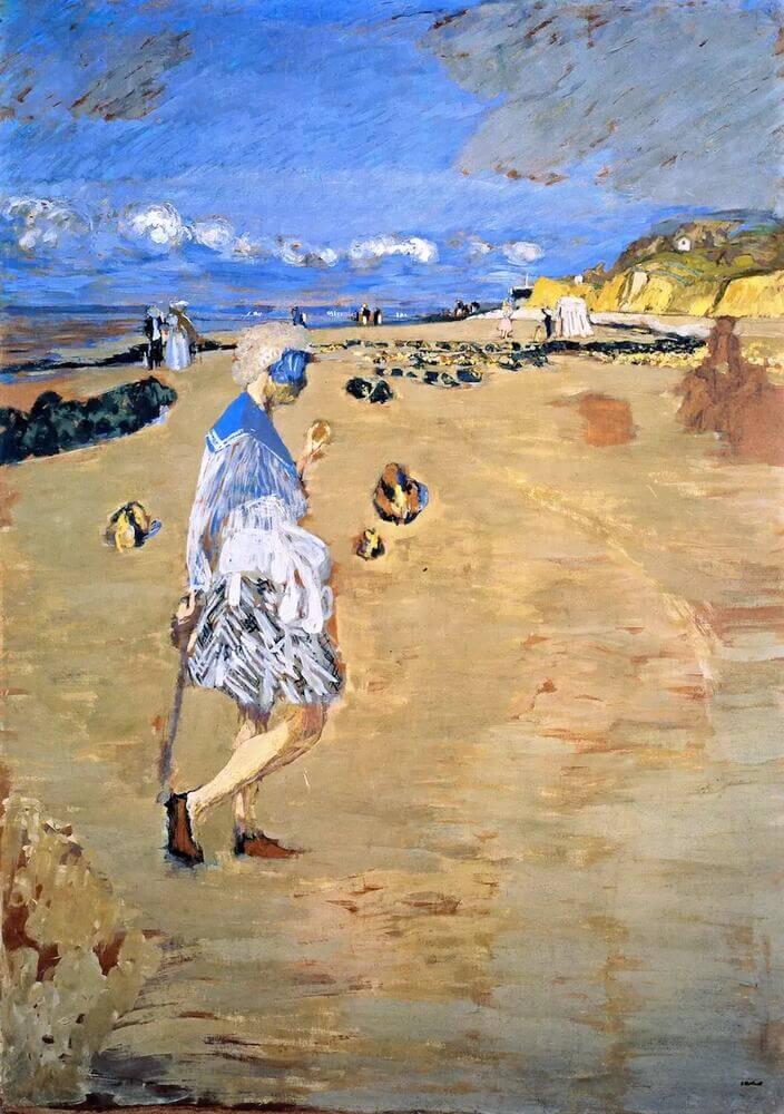 Жан Эдуар Вюйар - Аннет на пляже в Виллервилле