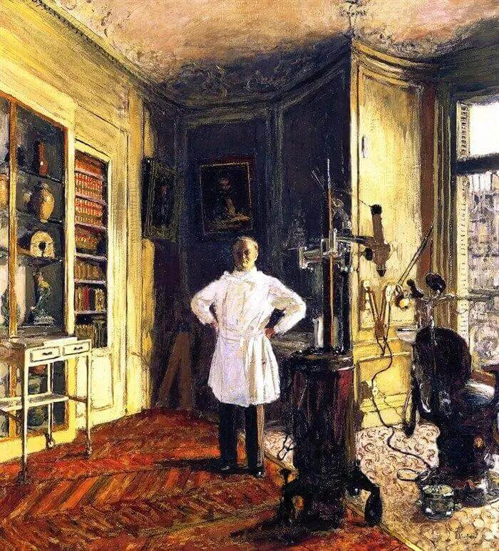 Жан Эдуар Вюйар - Доктор-дантист Луи Вило в своем кабинете
