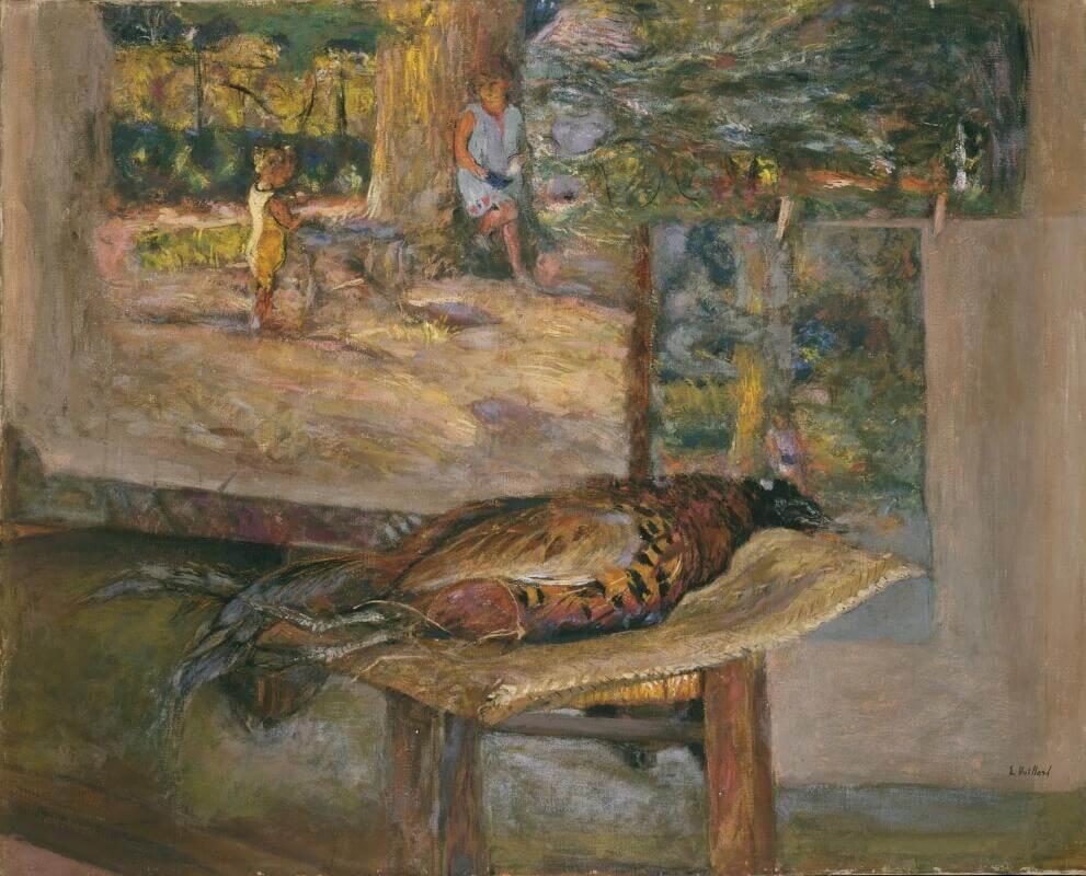 Жан Эдуар Вюйар - Интерьер с картинами и фазаном