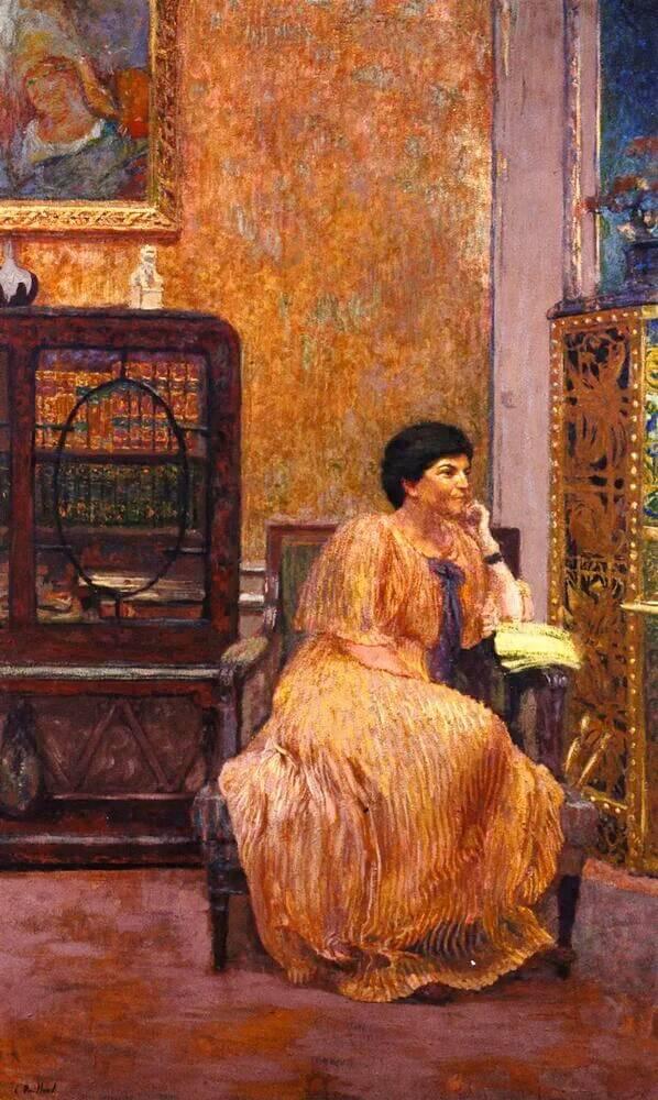Жан Эдуар Вюйар - Мадам Марсель Капфере в своем доме