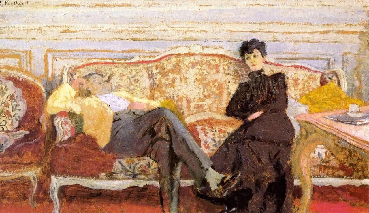 Жан Эдуар Вюйар - Месье и мадам Фейдо на диване