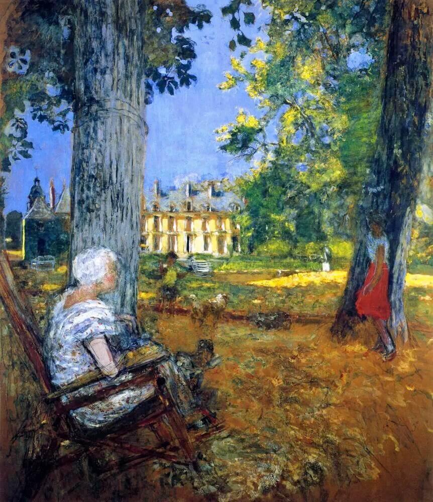 Жан Эдуар Вюйар - В парке в Шато-де-Клей